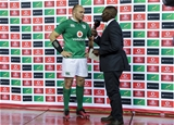 Ireland captain Rory Best is interviewed after the match at Newlands Stadium Credit: ©INPHO/Billy Stickland