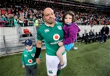Rory Best with his young kids Ben and Penny at Nelson Mandela Bay Stadium Credit: ©INPHO/Billy Stickland