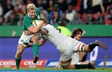 Pictured on the attack for Ireland, Stuart Olding retained his place in midfield for his second successive start in the green jersey Credit: ©INPHO/Billy Stickland