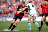 Munster lock Donnacha Ryan drives into Glasgow's Rory Hughes at Thomond Park Credit: ©INPHO/Ryan Byrne