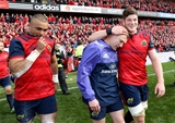 Munster's Simon Zebo, Keith Earls and Jack O'Donoghue are pictured after the province's rousing five-try display Credit: ©INPHO/Dan Sheridan