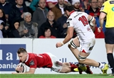 Munster hit back in first half injury-time with an unconverted effort from man-of-the-match Rory Scannell Credit: ©INPHO/Dan Sheridan