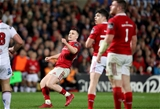Centre Rory Scannell watches his crucial drop goal go over as Munster edge their way in front for the first time Credit: ©INPHO/Dan Sheridan