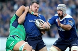 Leinster prop Cian Healy, who is coming into form, tries to shrug off the attentions of Connacht's Quinn Roux Credit: ©INPHO/Dan Sheridan
