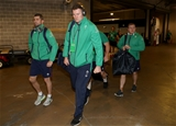 Rob Kearney, who was set for his 70th cap, and Donnacha Ryan make their way towards the Ireland dressing room Credit: ©INPHO/Dan Sheridan