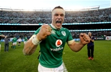 Josh van der Flier, who replaced the injured Jordi Murphy midway through the first half, was thrilled to play his part in Ireland's famous win Credit: ©INPHO/Dan Sheridan