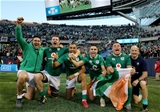The AIG Rugby Weekend, Solider Field, Chicago, USA 5/11/2016Ireland vs New Zealand All BlacksIreland's Billy Holland, Donnacha Ryan, Simon Zebo, Conor Murray and CJ Stander celebrate winningMandatory Credit ©INPHO/Dan Sheridan