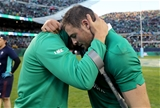 Jordi Murphy and Robbie Henshaw, who both touched down against the All Blacks, congratulate each other on a job well done Credit: ©INPHO/Dan Sheridan