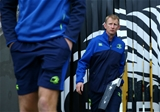 Leinster head coach Leo Cullen makes his way onto the pitch ahead of the GUINNESS PRO12 round 8 fixture Credit: ©INPHO/Matteo Ciambelli