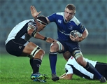 In-form back rower Dan Leavy takes on the Zebre defence at Stadio Sergio Lanfranchi Credit: ©INPHO/Matteo Ciambelli