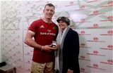 Rugby Friendly,  Thomond Park, Limerick 11/11/2016Munster vs Maori All BlacksMunsters Robin Copeland receives the Man of the Match award from Noreen Fleming Mandatory Credit ©INPHO/Billy Stickland