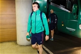 New cap Garry Ringrose is pictured arriving with the Ireland squad at the stadium Credit: ©INPHO/Billy Stickland