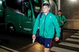 Debutant number 8 Jack O'Donoghue makes his way towards the Ireland dressing room Credit: ©INPHO/Billy Stickland