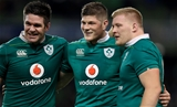 Munster's Billy Holland, Jack O'Donoghue and John Ryan are pictured together following their first senior appearances for Ireland Credit: ©INPHO/Donall Farmer