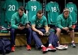 Guinness Series, Aviva Stadium, Dublin 26/11/2016Ireland vs Australia Ireland's Peter O'Mahony, Ultan Dillane and Finlay Bealham in the dressing room ahead of the gameMandatory Credit ©INPHO/Dan Sheridan