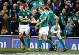 Guinness Series, Aviva Stadium, Dublin 26/11/2016Ireland vs Australia Ireland's Keith Earls celebrates scoring a try with Josh van der FlierMandatory Credit ©INPHO/Dan Sheridan