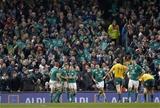 Guinness Series, Aviva Stadium, Dublin 26/11/2016Ireland vs Australia Irelands Keith Earls is congratulated by Garry Ringrose and Josh Van der FlierMandatory Credit ©INPHO/Colm ONeill