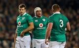 Guinness Series, Aviva Stadium, Dublin 26/11/2016Ireland vs Australia Ireland's Jared Payne, Rory Best and Tadhg FurlongMandatory Credit ©INPHO/James Crombie