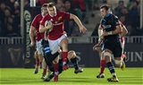 Dolphin clubman Rory Scannell is pictured on the charge for Munster, with support from his centre partner Jaco Taute Credit: ©SPORTSFILE/Paul Devlin