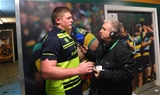 RTE Radio rugby commentator Michael Corcoran interviews Tadhg Furlong in the aftermath of Leinster's five-try triumph Credit: ©INPHO/James Crombie