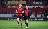 Jaco Taute and Dave Kilcoyne leave the pitch after a job well done by the GUINNESS PRO12 leaders Credit: ©INPHO/Ryan Byrne