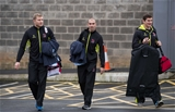 Franco van der Merwe, Ruan Pienaar and Robbie Diack arrive for Ulster's round 3 clash with Clermont Auvergne Credit: ©INPHO/Morgan Treacy