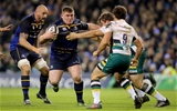 European Rugby Champions Round 4, Aviva Stadium, Dublin 17/12/2016Leinster vs Northampton SaintsLeinster's Tadhg Furlong with Nic Groom and Charlie Clare of Northampton SaintsMandatory Credit ©INPHO/Ryan Byrne